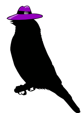 AlexIT logo, pretty bird with a sweet hat